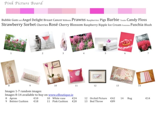 Pink Picture Board