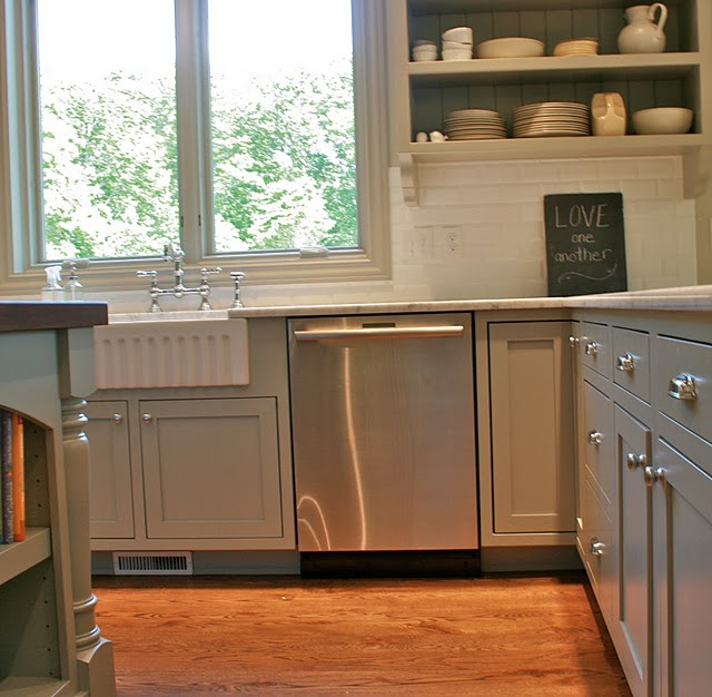 Gray Painted Kitchen Cupboards: Grey-cabinets_sussieharrisblog-com.jpg