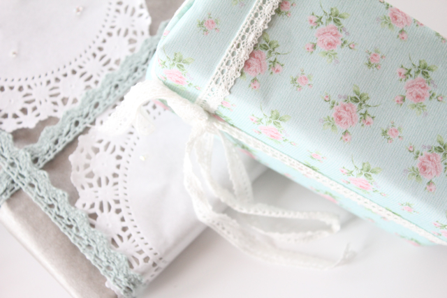 Pretty Packaging, Packaging with Lace, Gift Wrapping