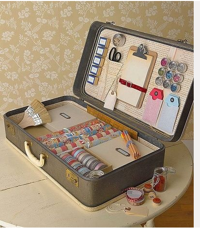 Vintage Suitcase, Craft Storage
